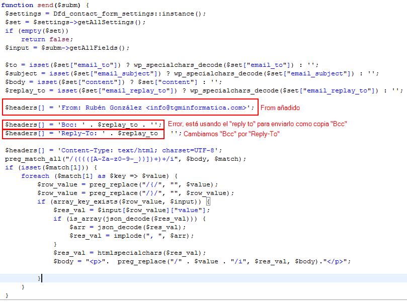 Contact Form código fuente plantilla