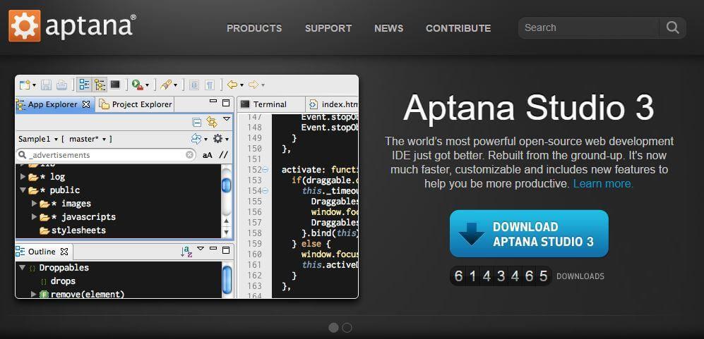 Aptana editor WordPress