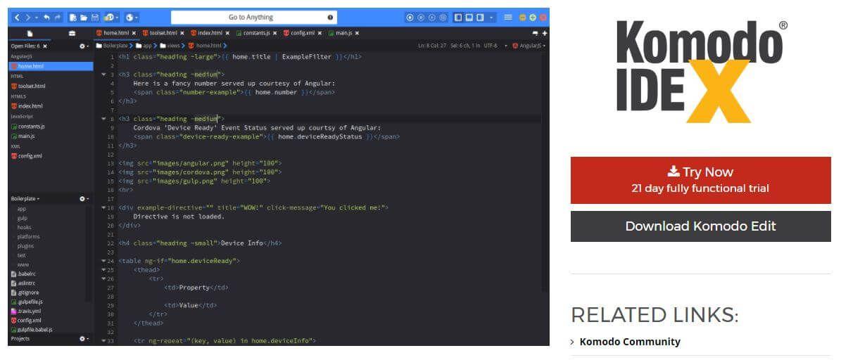 Komodo Edit Editor WordPress