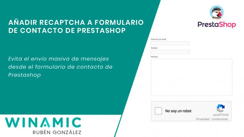 Añadir recaptcha al formulario de contacto de Prestashop