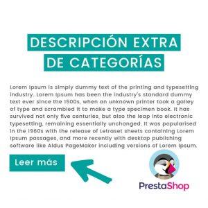 Descripción extra de categorías Prestashop