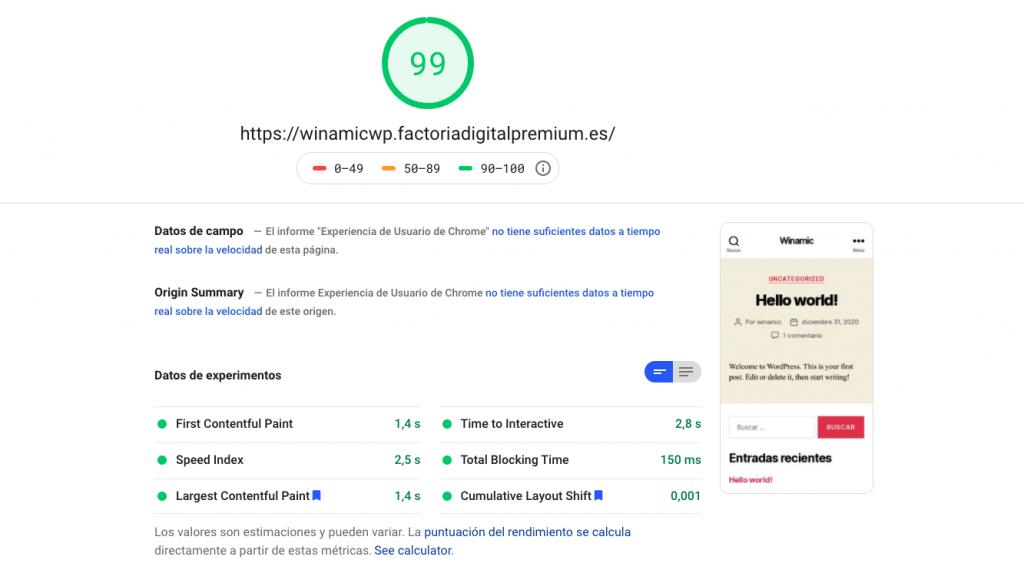 Factoría Digital PageSpeed